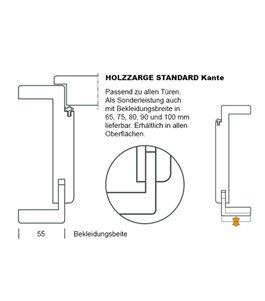 TYP6 Weißlack Zarge