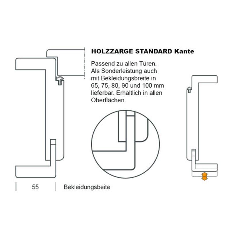 typ6 wei lack zarge g nstigen preis. Black Bedroom Furniture Sets. Home Design Ideas