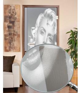Ganzglastür Monroe gelasert