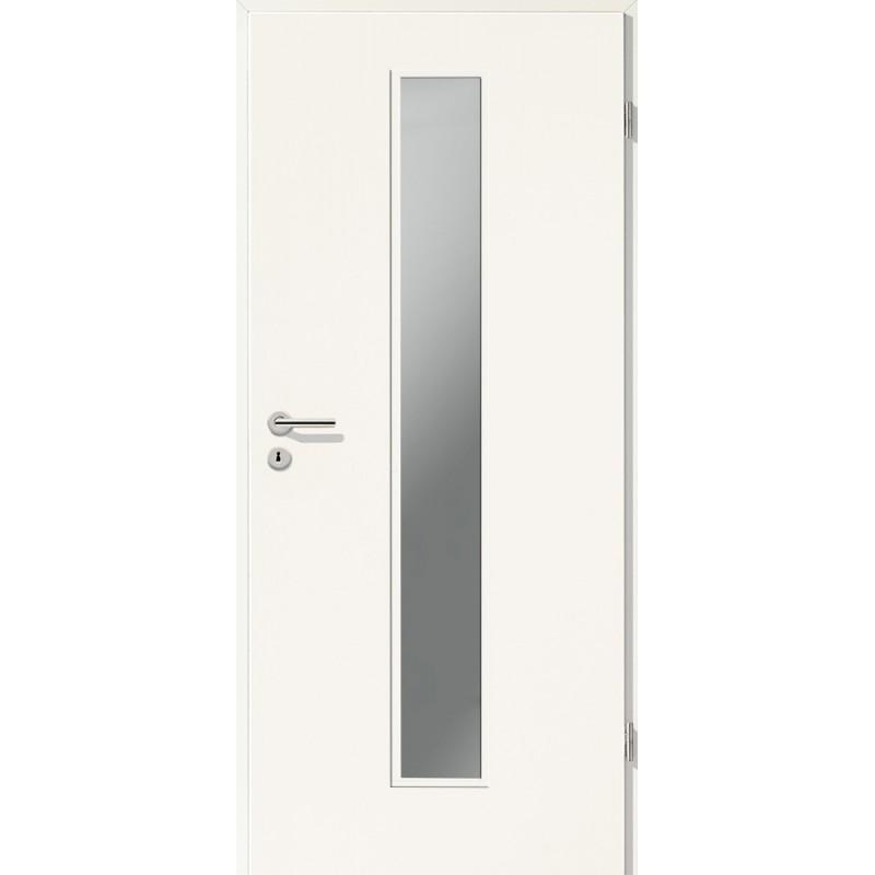 Holztüren - Türblatt CPL - Uni Weiß mit Lichtausschnitt LA-1
