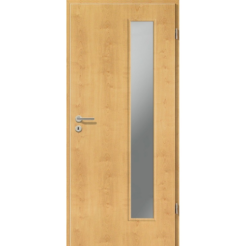 Holztüren - Türblatt CPL - Ahorn Rustikal mit Lichtausschnitt