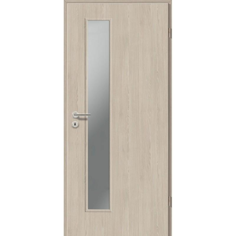 Holztüren - Türblatt CPL - Platineiche mit Lichtausschnitt LA-1D