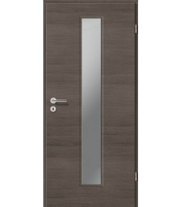 Holztüren - Türblatt CPL - Pinie Grau Cross mit Lichtausschnitt