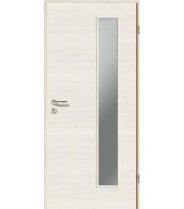 Holztüren - Türblatt CPL - Pinie Weiß Cross mit Lichtausschnitt