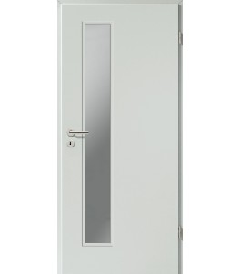 Holztüren - Türblatt CPL - Hellgrau mit Lichtausschnitt LA-1D